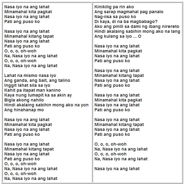 christian praise and worship songs chords and lyrics walang mas