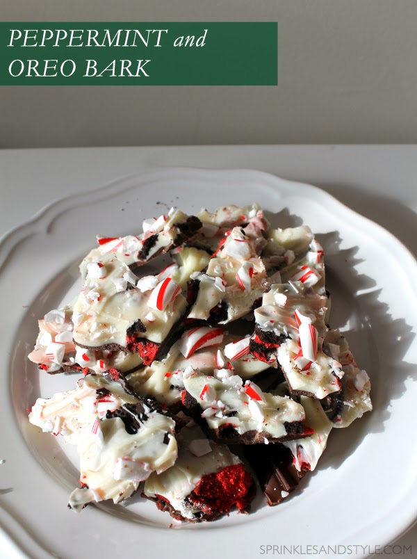 Sprinkles and Style || Peppermint and Oreo Bark