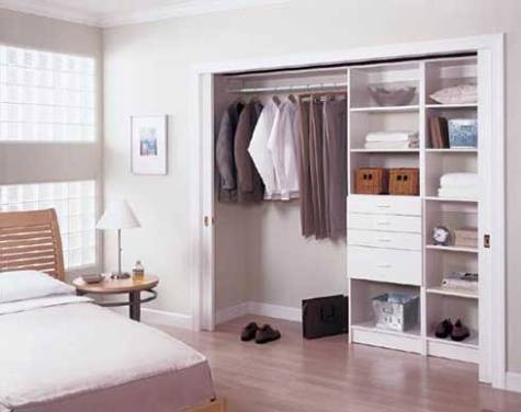 Dise o closets para dormitorios decorar tu habitaci n for Roperos para dormitorios pequenos