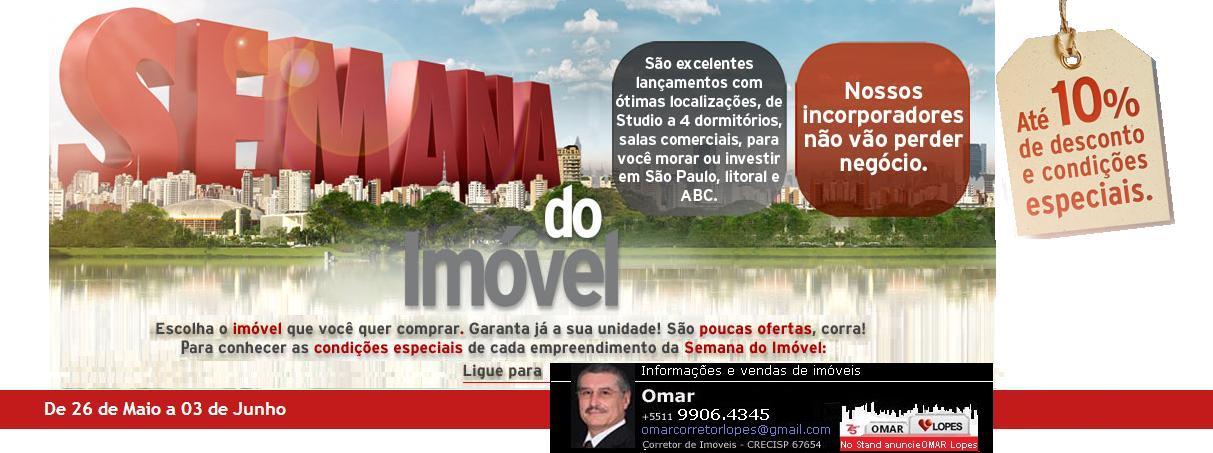 Semana do Imóvel em São Paulo, Litoral e ABC de 26 de maio a 03 de junho