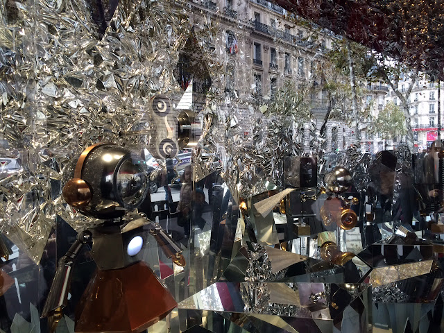 Holiday window at Galeries Lafayette, 2015