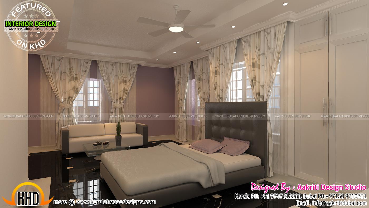 Master bedroom living and terrace gazebo kerala home for Master bedroom designs kerala
