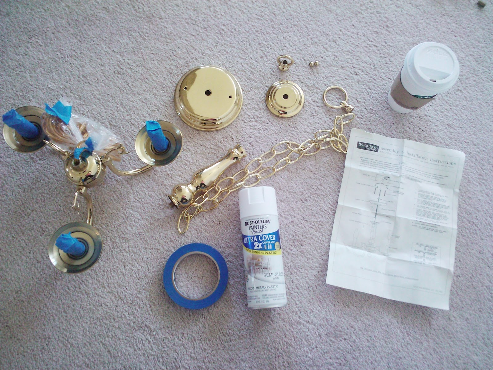 Livelovediy how to spray paint a chandelier livelovediy arubaitofo Images
