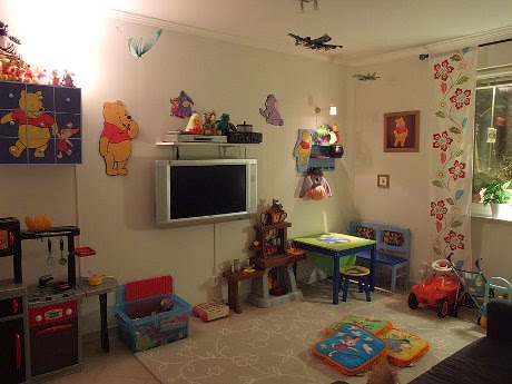 play room design with tv