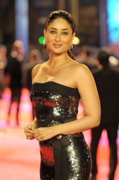 kareena kapoor in black gown at london ra. one premiere