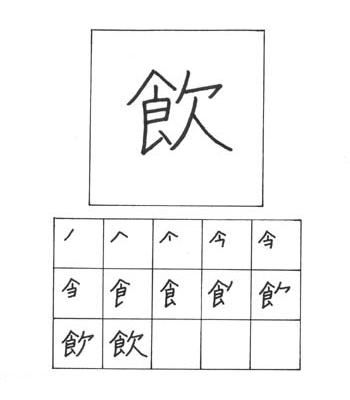 kanji minum