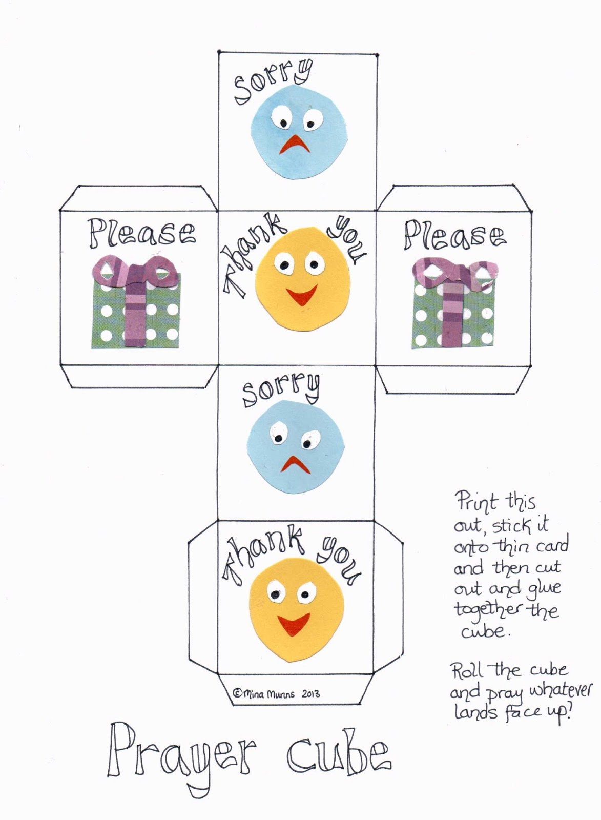 Flame creative children s ministry prayer cube for 3 5s or any age