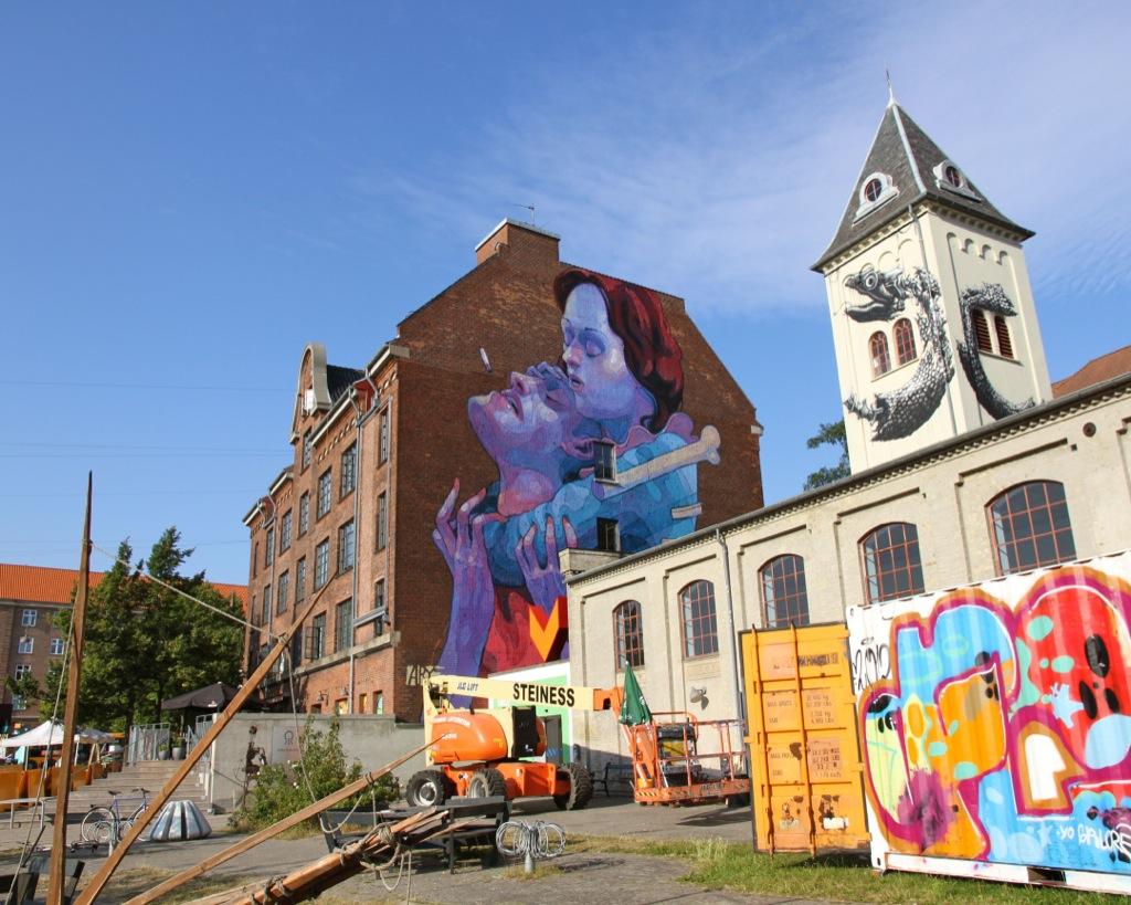 aryz new mural in copenhagen denmark streetartnews streetartnews. Black Bedroom Furniture Sets. Home Design Ideas