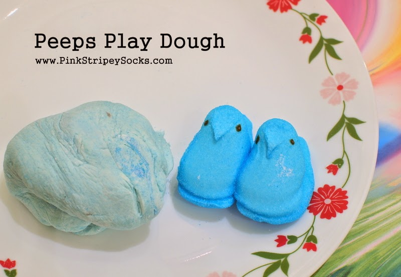Marshmallow Peeps Play Dough