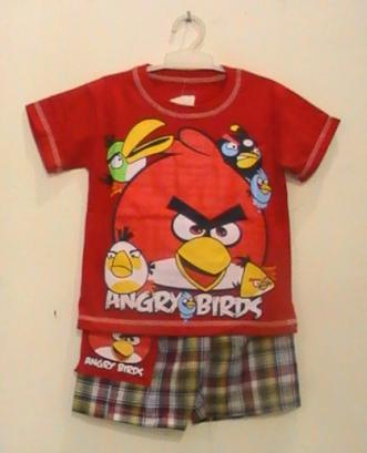 busana anak angry birds