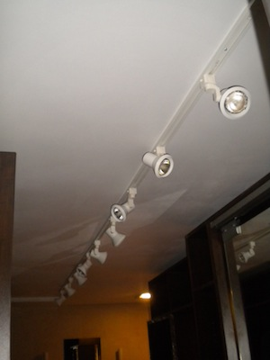 One project at a time diy blog bath crashers master for Updating track lighting