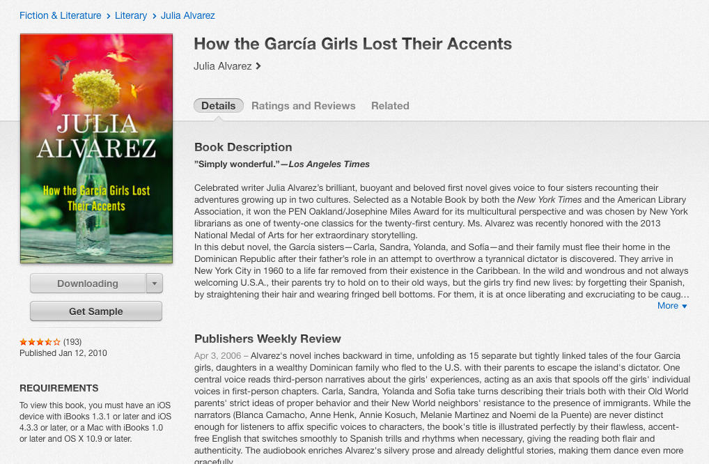 a literary analysis of how garcia girls lost their accents by julia alvarez Our reading guide for how the garcia girls lost their accents by julia garcia how the garcia girls lost their accents, alvarez literary success alvarez's.