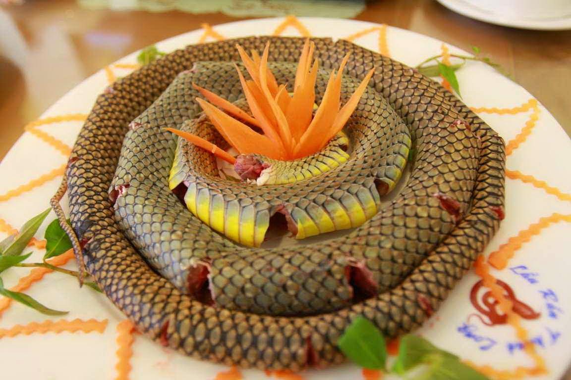 Strange foods in Vietnam - snake