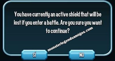 imagen del escudo protector de monster legends