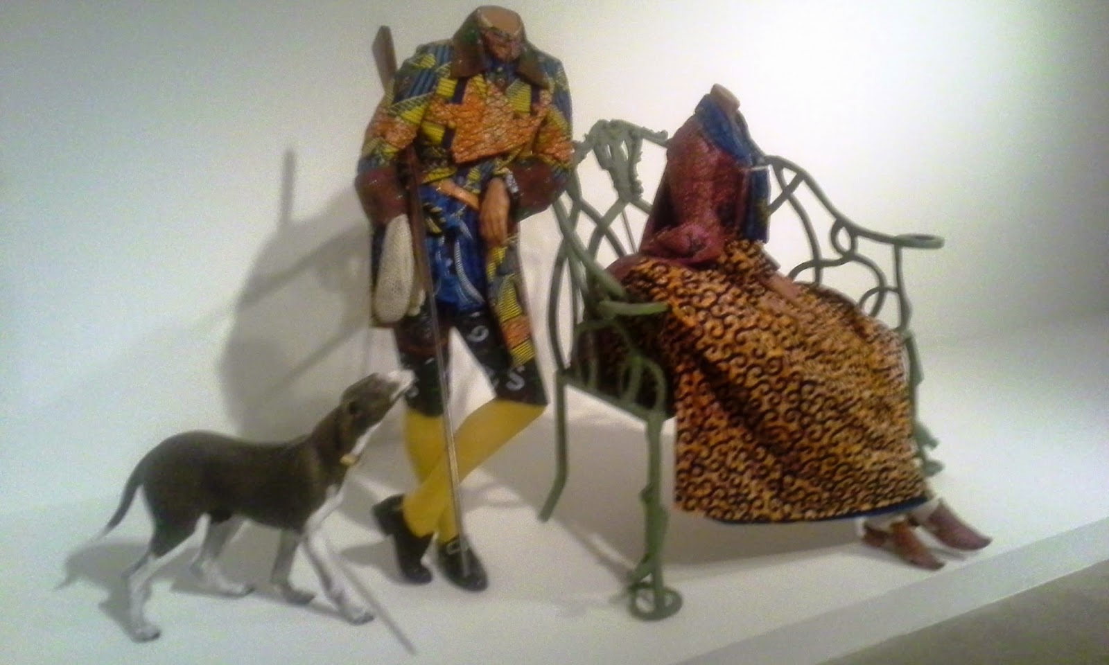 MOCCA Exhibit: Misled By Nature: Contemporary Art and the Baroque. Mr. and Mrs. Andrews Without Their Heads by Yinka Shonibare, 1998 Art Culture Toronto Blogger Melanie.Ps The Purple Scarf