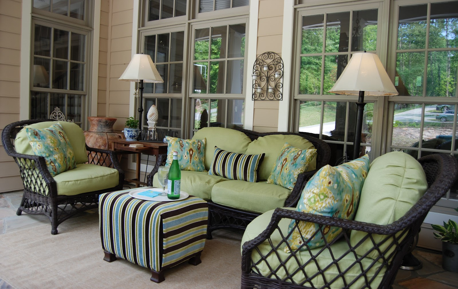 imparting grace furnishing an outdoor room make your own ottoman. Black Bedroom Furniture Sets. Home Design Ideas