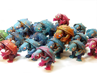 San Diego Comic-Con 2013 Exclusive Aqua Gammy Resin Figures by Leecifer