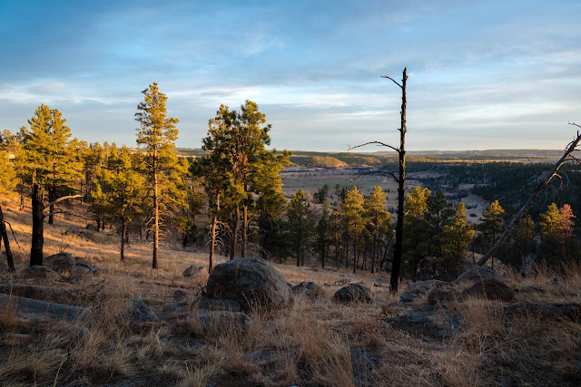 A View of the Distant Belle Fourche River from the Base of Devils Tower