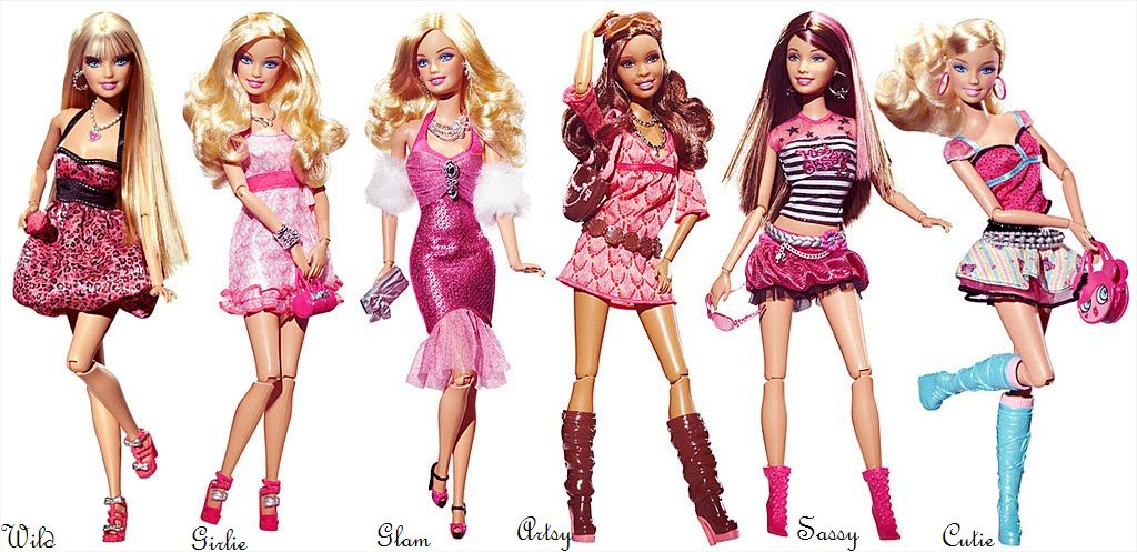 S Para Meninas Barbie Fashionistas