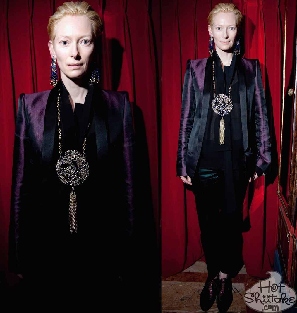 Tilda Swinton Paris Fashion Week