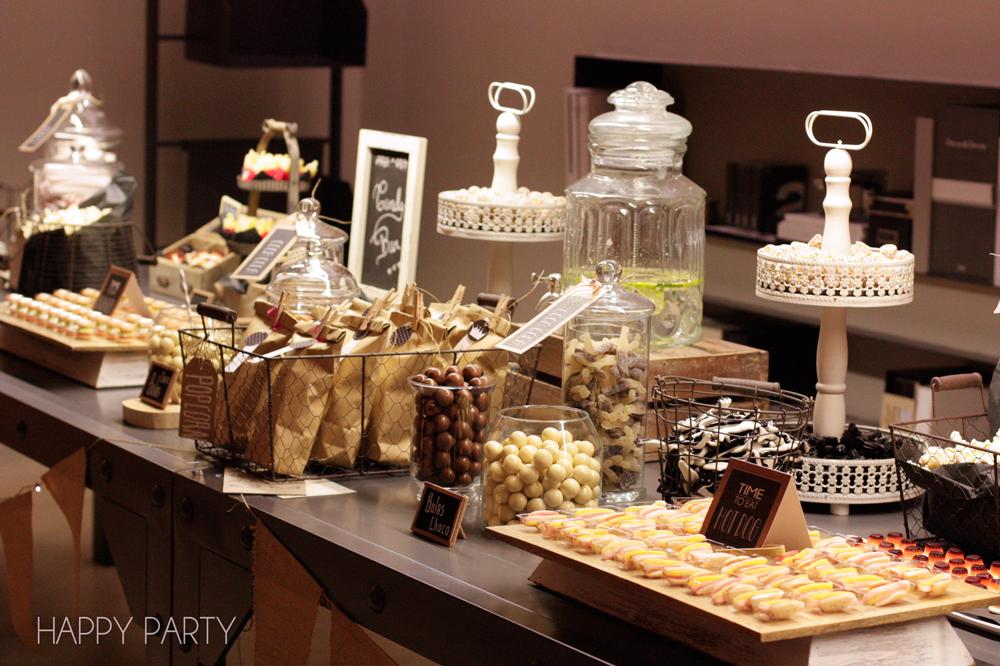 Una candy bar para un proyecto muy especial happy party for Mesa salada para cumple