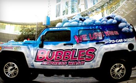 Bubbles car wash coupons