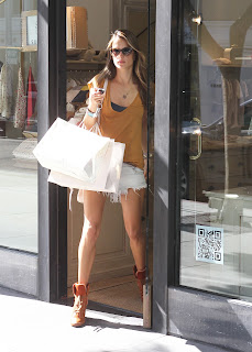 Alessandra Ambrosio leaving Bonpoint store in Beverly Hills