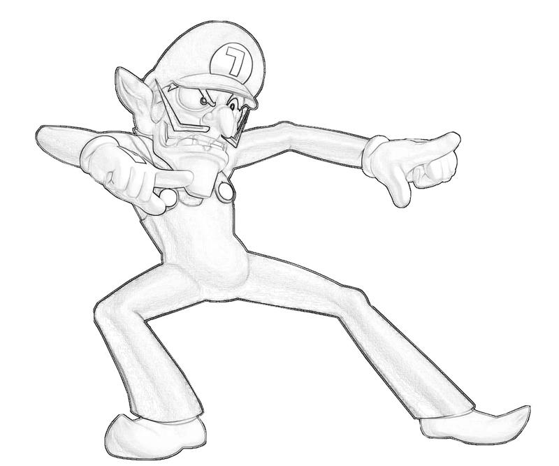 wario coloring pages - photo#34