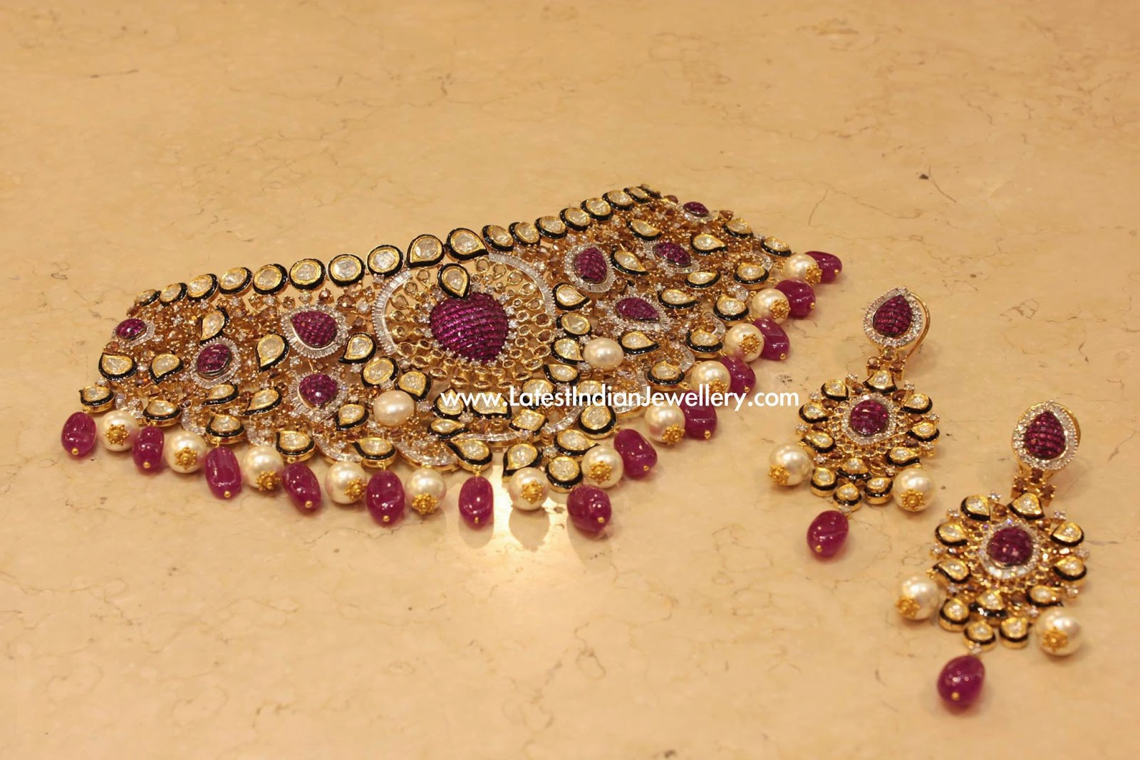 Luxury Polki Diamond Bridal Set