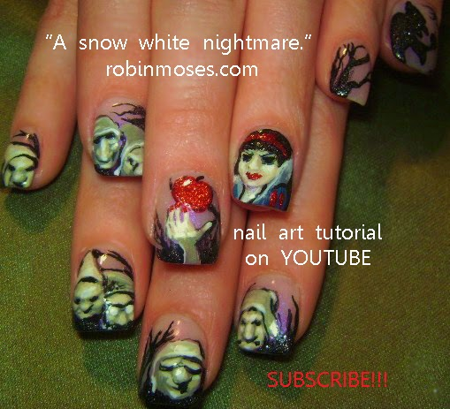 "Robin Moses Nail Art February 2015: Robin Moses Nail Art: ""halloween Nails"" ""scary Nails"