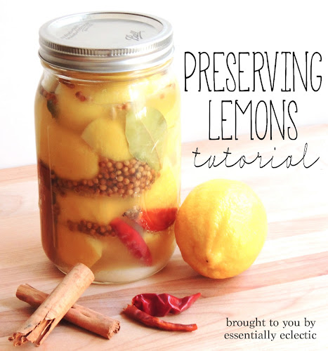Preserving Lemons Tutorial by Essentially Eclectic | Featured on Making the World Cuter for Beautiful Food Photography