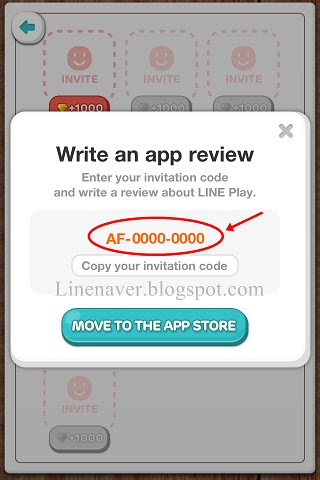 Line applications and games line play invitation code is click at invitation code 5 page down and click at invite red colour 6 after your friend used it their face will show up stopboris Gallery