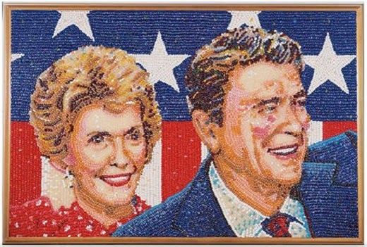 jelly bean art, Jelly Belly, Ronald Regan