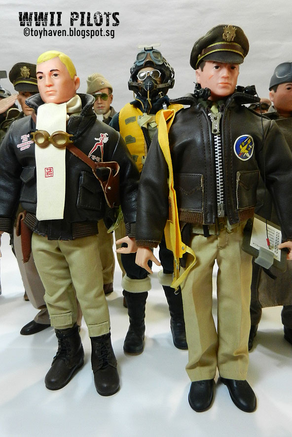 B17 Bomber Crew GI Joe Action Figures Flight Helmet Set w// Mask 1//6 Scale