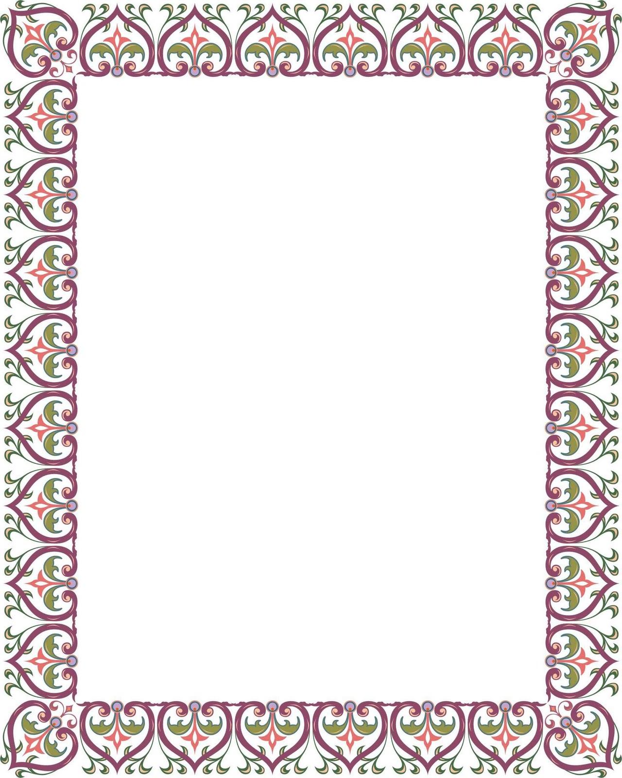Bingkai / Border Piagam Vector (2)