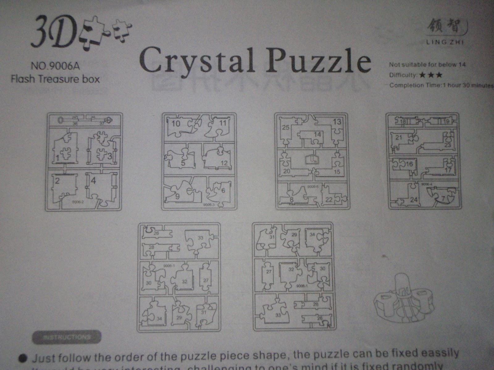 Кристальные пазлы заяц схема сборки