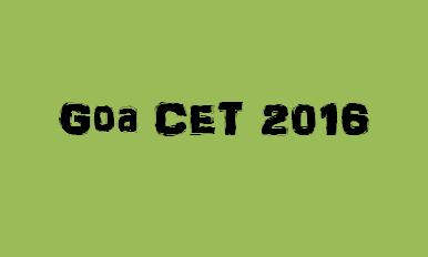 Goa CET 2016 Logo