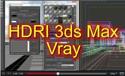 Video Cara Mengatur Pencahayaan HDRI Vray di 3Ds Max