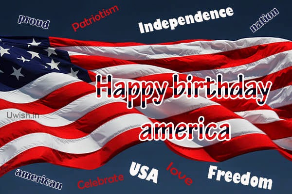 Happy Independence day USA e greetings and wishes with US flag Happy Birthday america.