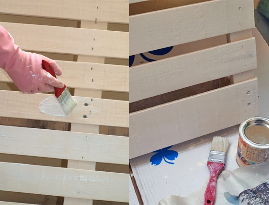 ... von Schön: Pallet DIY: Kitchen Shelf for Spices and Kitchenware
