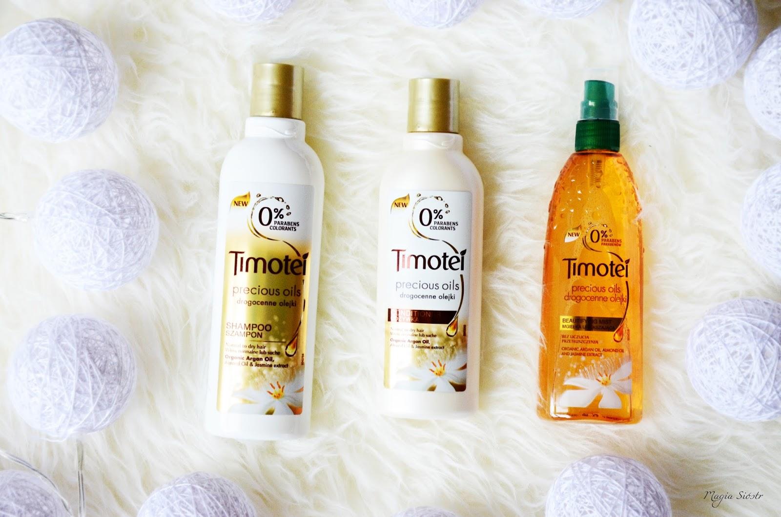 pielęgnacja włosów, Timotei - Drogocenne Olejki, olejki do włosów, nawilżenie włosów