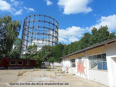 gasometer, gasbehälter, Sehenswürdigkeiten, berlin, denkmal, industrie,Schöneberg, rote insel