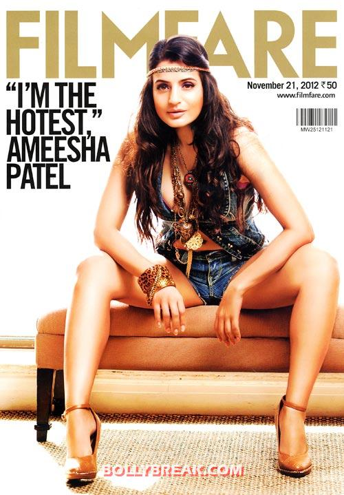 Ameesha Patel on Filmfare cover - Ameesha Patel's Hottest Magazine Covers 