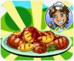 Làm gà nướng khoai tây, game ban gai