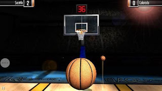 Screenshots of the Basketball showdown for Android tablet, phone.