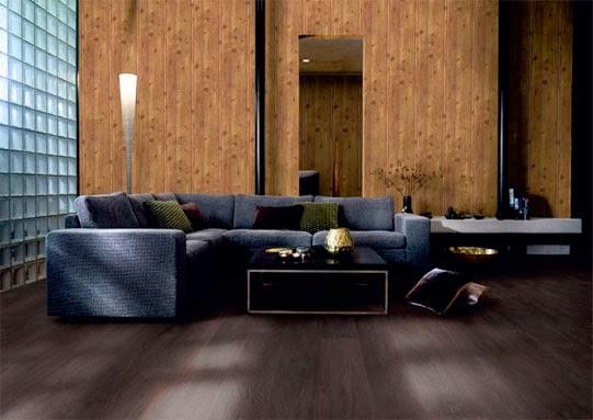 si bien el de madera puede colocarse solamente en algunas paredes tambin queda muy bien cuando se instala en toda la casa o cuando