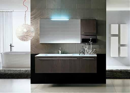 Muebles modernos minimalistas muebles para decorar su ba o - Muebles altos de bano ...