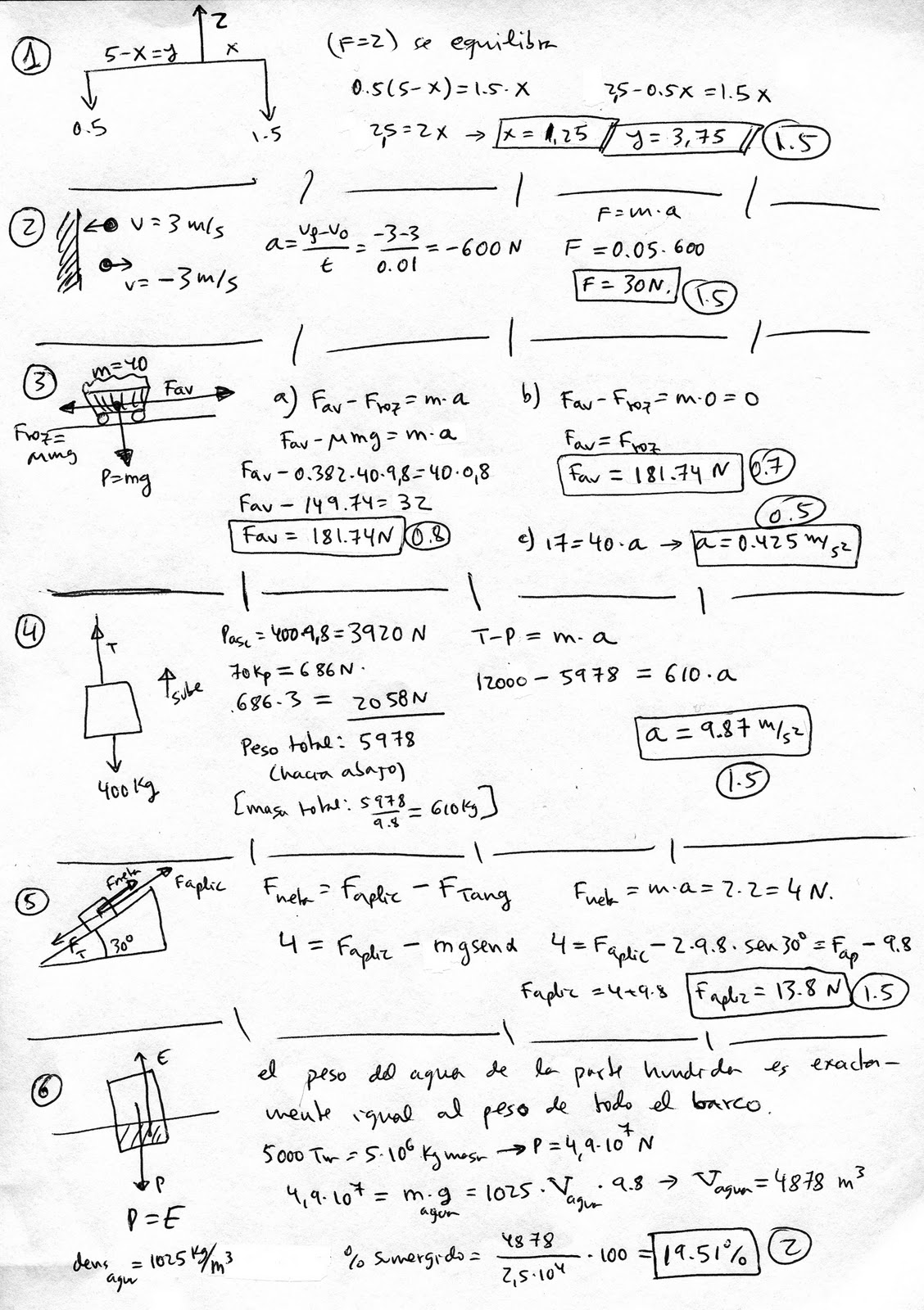 FISICA Y QUIMICA PARA ESTUDIANTES: Examen 4º ESO Física y Química