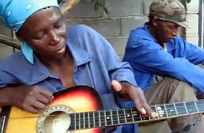ボツワナのギタープレーヤー