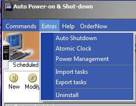 شرح قوائم برنامج Auto Power-on & Shut-down